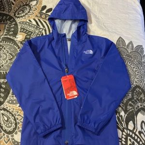 North Face zip line rain jacket for girls